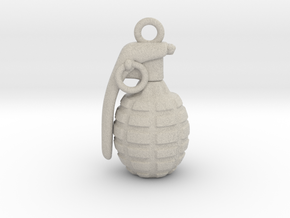 The Grenade Pendant in Natural Sandstone