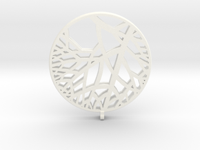Circle of Tree Earrings in White Processed Versatile Plastic