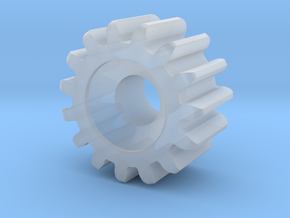 Gear Heart Pendant - Tiny Gear in Smooth Fine Detail Plastic