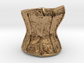 Victorian Damask Corset, c. 1860-68 in Polished Brass