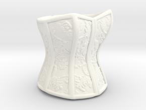 Victorian Damask Corset, c. 1860-68 in White Processed Versatile Plastic