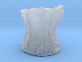 Victorian Damask Corset, c. 1860-68 in Smooth Fine Detail Plastic