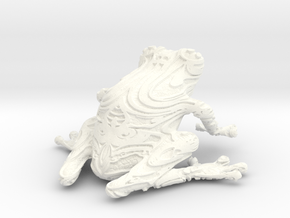 FrogPrint2 in White Strong & Flexible Polished