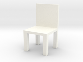 Chair #1 with engrave option in White Processed Versatile Plastic