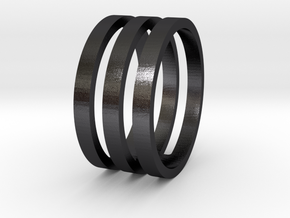 Amon - Size 11 in Polished and Bronzed Black Steel