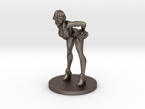 Cheerleader #3 for Slaughterball in Polished Bronzed Silver Steel