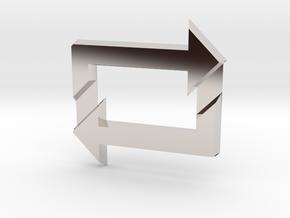 Reblog Pendant in Platinum