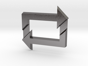 Reblog Pendant in Polished Nickel Steel