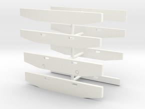 1/50th Peterbilt truck bumpers in White Processed Versatile Plastic