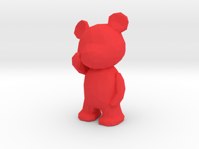 Thinking Teddy Bear - small in Red Strong & Flexible Polished