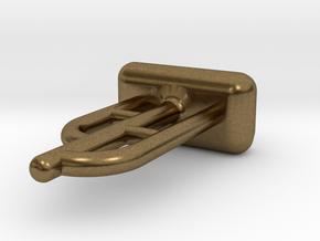 Tritium Ear Stud 1 (1.5x6mm Vial) in Natural Bronze