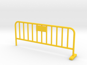 Barrier 01 (portable fence). Scale 1:24 in Yellow Processed Versatile Plastic