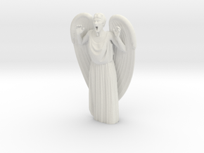 Weeping Angel Attacking in White Strong & Flexible