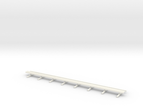 Guard Rail 1:50 Motorway in White Strong & Flexible Polished