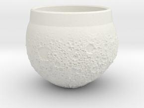"""Moon Shot"" Espresso Cup in White Natural Versatile Plastic"