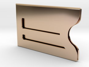 Customizable Bank / Credit / Card Case in 14k Rose Gold Plated Brass