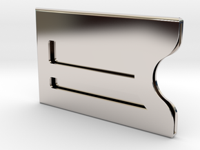 Customizable Bank / Credit / Card Case in Rhodium Plated Brass