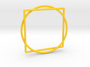 Squaring the Circle / Quadratur des Kreises in Yellow Processed Versatile Plastic