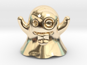 Ghost Emoji Figurine in 14K Yellow Gold