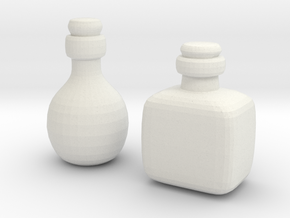 Bottles (2x) in White Natural Versatile Plastic