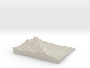 Model of Las Trampas Ridge in Sandstone