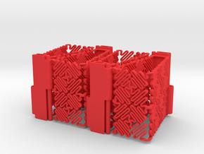 Ruff Style 1 (Four Segments) in Red Processed Versatile Plastic