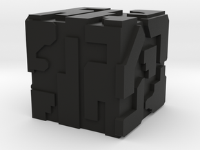 Game Piece, Hive Battlecube ,16mm in Black Strong & Flexible