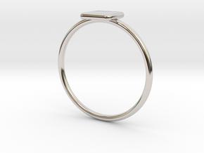 Square Ring in Platinum