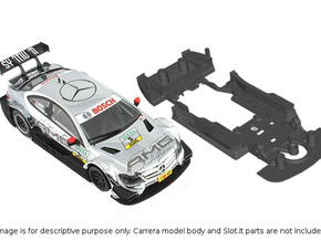 S03-ST2 Chassis for Carrera Merc. DTM STD/STD in White Strong & Flexible