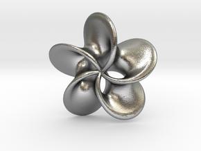 "Scherk minimal surface ""Rose"" in Natural Silver"