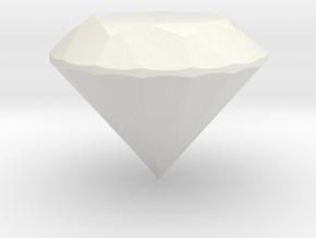 Diamond in White Natural Versatile Plastic