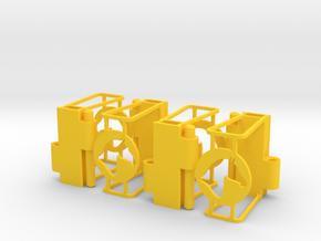 Ruff Style 2 Quad in Yellow Processed Versatile Plastic