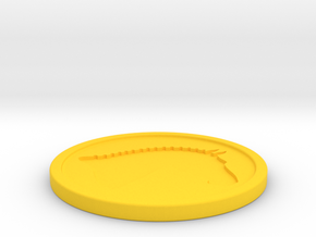 Branded Coaster (TheMarketingsmith) in Yellow Processed Versatile Plastic