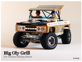 Simensays Big Oly Grille in White Processed Versatile Plastic