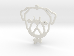 Hugs and Pugs in White Natural Versatile Plastic