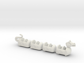 dragon coaster in White Natural Versatile Plastic