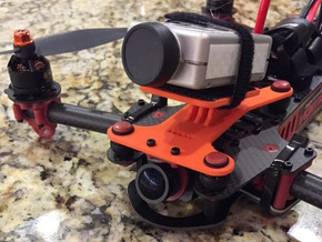 Dynamic Camera Mount For Vortex 285 in Orange Strong & Flexible Polished