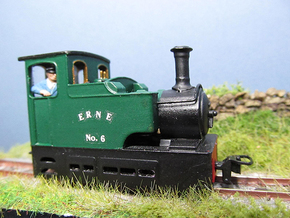 009 Irish Tram Engine  in White Natural Versatile Plastic