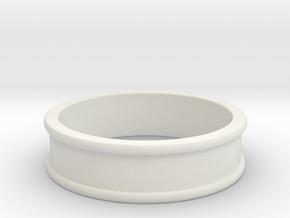 Customizable Ring in White Natural Versatile Plastic