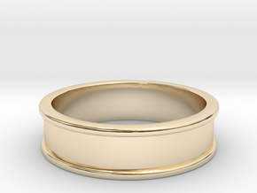 Customizable Ring in 14k Gold Plated Brass