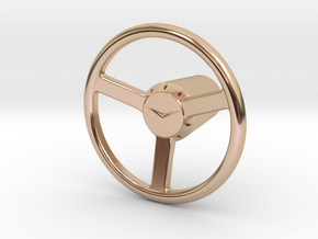 Shooter Rod Knob - v1 Cadillac Steering Wheel in 14k Rose Gold Plated Brass