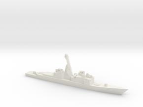Aegis refitted Spruance, 1/2400 in White Natural Versatile Plastic