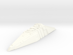 Ship Concept - Tide Breaker (Widened Version) in White Processed Versatile Plastic