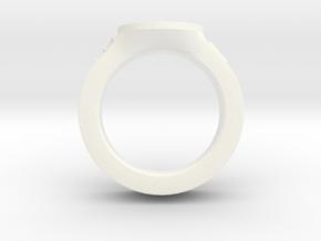 J&C fleur de lis Ring 2 in White Processed Versatile Plastic