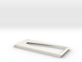 Phase II  Nacelle Fins in White Natural Versatile Plastic