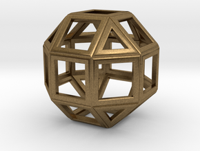 da Vinci's rhombicuboctahedron in Raw Bronze