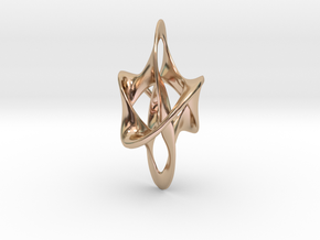Antichron Elongate - 40mm in 14k Rose Gold Plated Brass