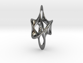 Antichron Elongate - 40mm in Fine Detail Polished Silver