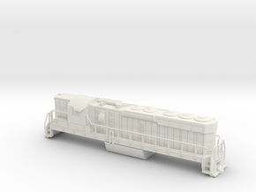 EMD SD24 Locomotive N Scale  -High Detail in White Natural Versatile Plastic