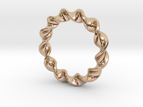 Twist Pendant in 14k Rose Gold Plated Brass